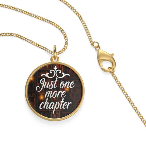 Just One More Chapter Single Loop Necklace - Gifts For Reading Addicts