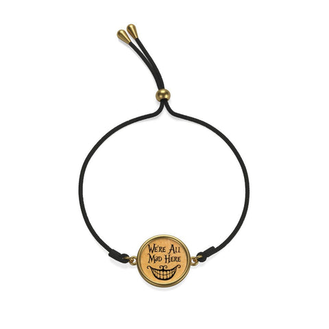"""We're All Mad Here""Alice In Wonderland Cord Bracelet - Gifts For Reading Addicts"