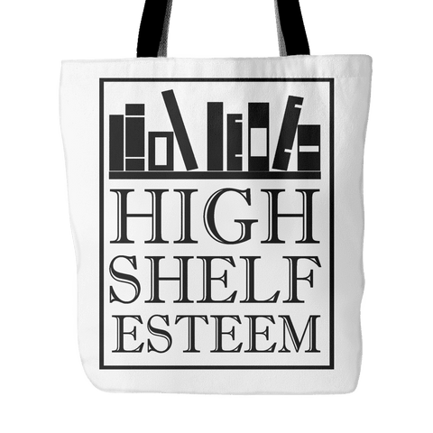 high shelf esteem tote bag-For Reading Addicts
