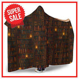 brown bookshelf Hooded blanket - Gifts For Reading Addicts