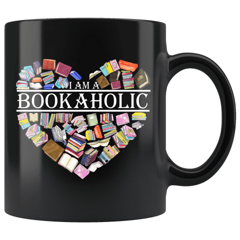 """I am a bookaholic""11oz black mug - Gifts For Reading Addicts"