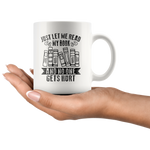 """Just Let Me Read""11oz White Mug - Gifts For Reading Addicts"