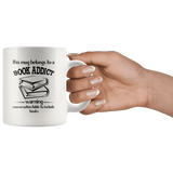 """Book addict""11oz white mug"