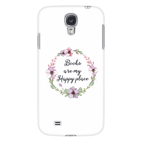 My happy place floral phone case white - Gifts For Reading Addicts