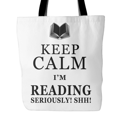 keep calm i'm reading tote bag-For Reading Addicts