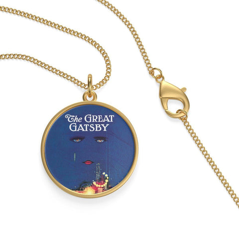 """The Great Gatsby""Book Cover Single Loop Necklace - Gifts For Reading Addicts"