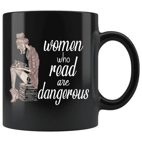 """Women who read""11oz black mug"