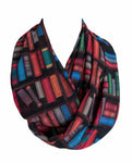 Bookshelf colorful Infinity Scarf Handmade Limited Edition - Gifts For Reading Addicts
