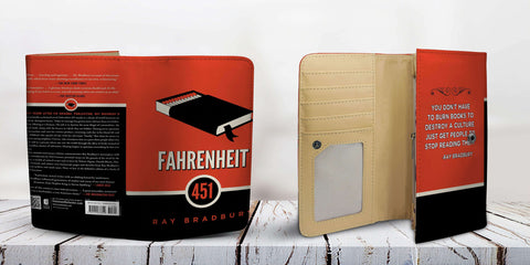"""Fahrenheit 451""Book Cover Womens Wallet"