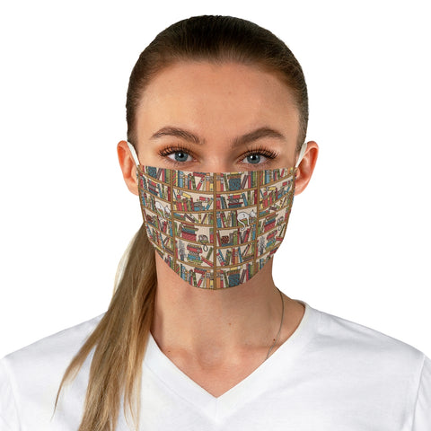 Bookish Pattern Fabric Face Mask - Gifts For Reading Addicts