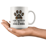 """Dogs and books""11oz white mug - Gifts For Reading Addicts"