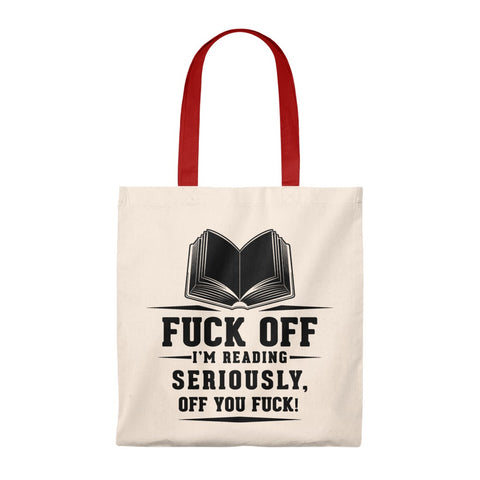 I'm Reading Canvas Tote Bag - Vintage style - Gifts For Reading Addicts