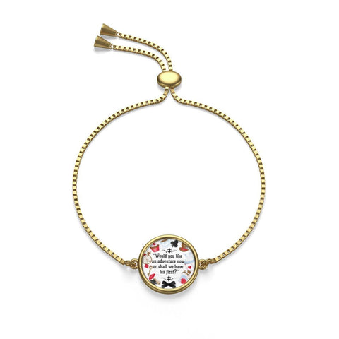 Alice In Wonderland Quote Box Chain Bracelet - Gifts For Reading Addicts