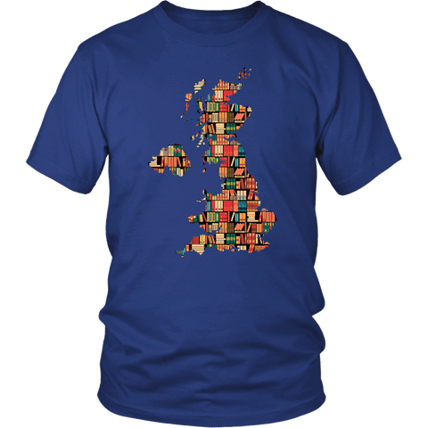 """UK Bookish Map"" Unisex T-Shirt"