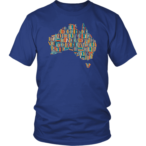 """Australia Bookish Map"" Unisex T-Shirt"