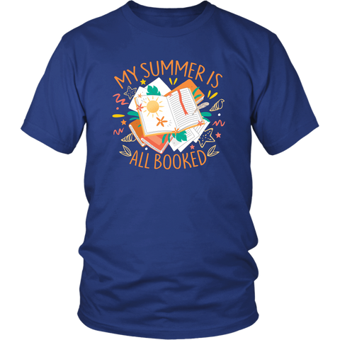 """My Summer Is All Booked"" Unisex T-Shirt - Gifts For Reading Addicts"