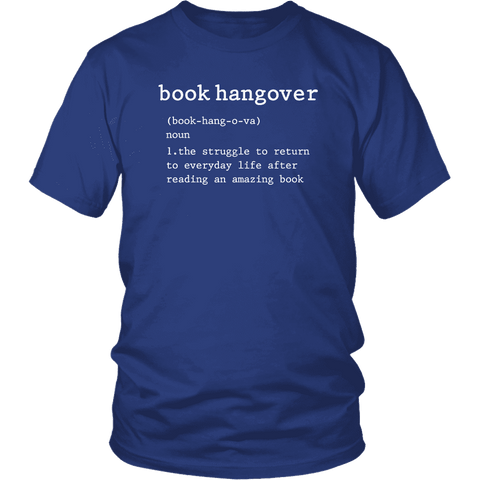 """Book hangover"" Unisex T-Shirt - Gifts For Reading Addicts"