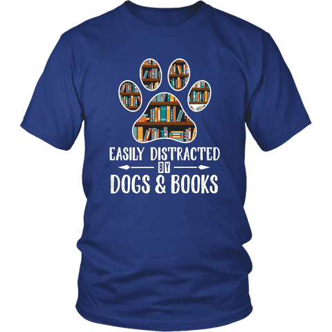 """Dogs and books"" Unisex T-Shirt"