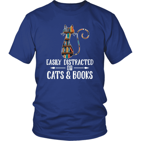 """Cats and books"" Unisex T-Shirt"