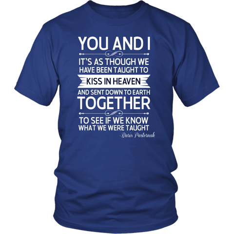 """You and i"" Unisex T-Shirt - Gifts For Reading Addicts"