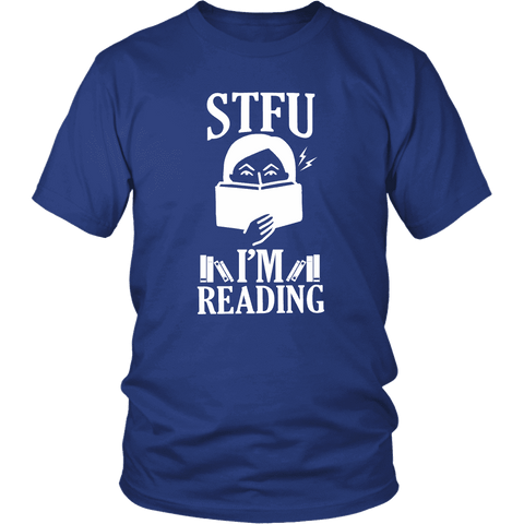 """STFU I'm Reading"" Men's Tank Top"