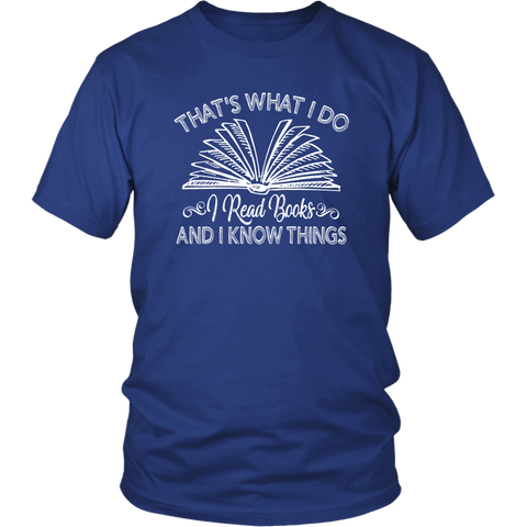 """I Read Books"" Unisex T-Shirt - Gifts For Reading Addicts"