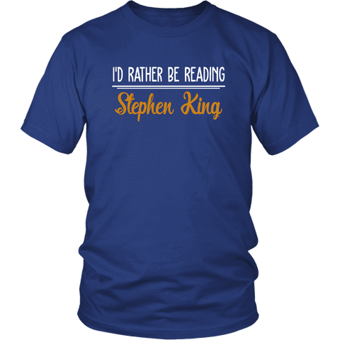 """I'd Rather Be Reading SK"" Unisex T-Shirt"