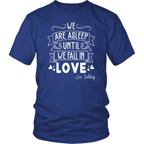 """We fall in love"" Unisex T-Shirt - Gifts For Reading Addicts"