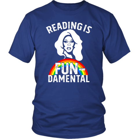 "Rupaul""Reading Is Fundamental"" Unisex T-Shirt - Gifts For Reading Addicts"