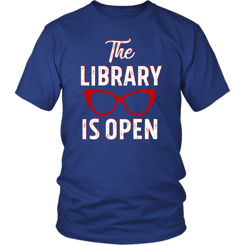 "Rupaul""The Library Is Open"" Unisex T-Shirt - Gifts For Reading Addicts"