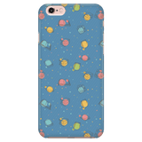 Colorful Bookish Pattern Phone Case blue-For Reading Addicts