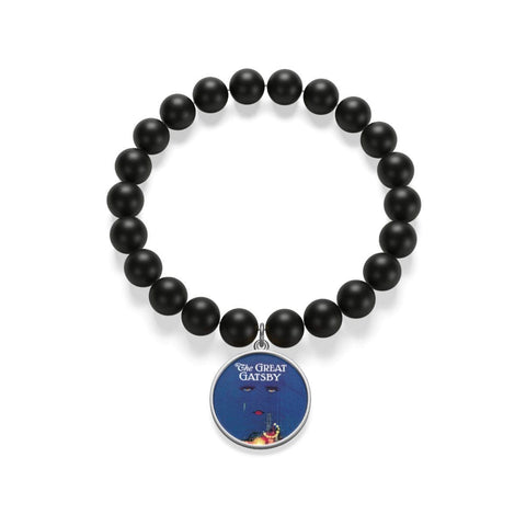 """The Great Gatsby""Book Cover Matte Onyx Bracelet - Gifts For Reading Addicts"