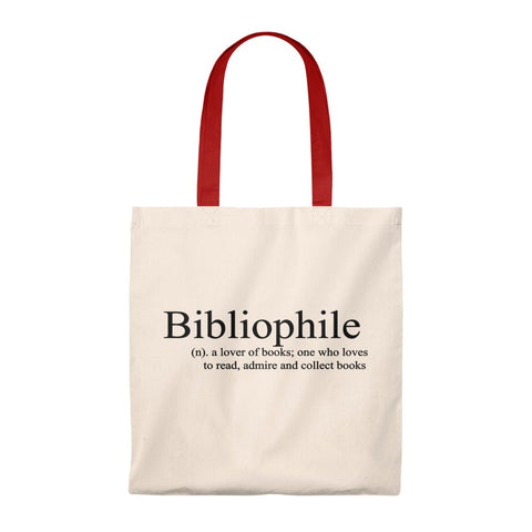 Bibliophile Canvas Tote Bag - Vintage style - Gifts For Reading Addicts