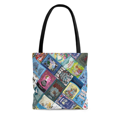 Alice In Wonderland book Covers Tote Bag - Gifts For Reading Addicts