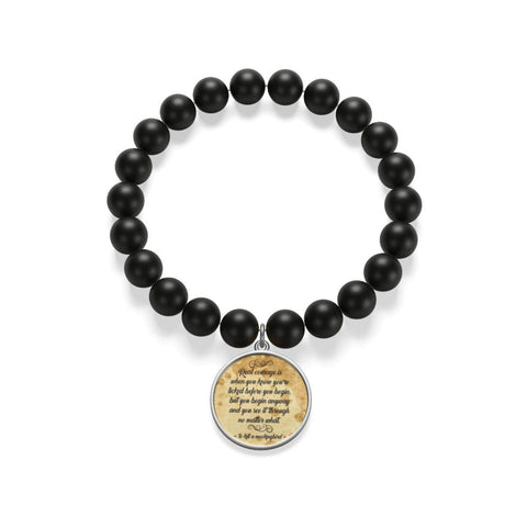 To Kill A Mockingbird Quote Matte Onyx Bracelet - Gifts For Reading Addicts