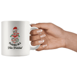 """Reading in a winter wonderland"" 11oz white mug"