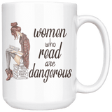 """Women who read"" 15oz white mug - Gifts For Reading Addicts"
