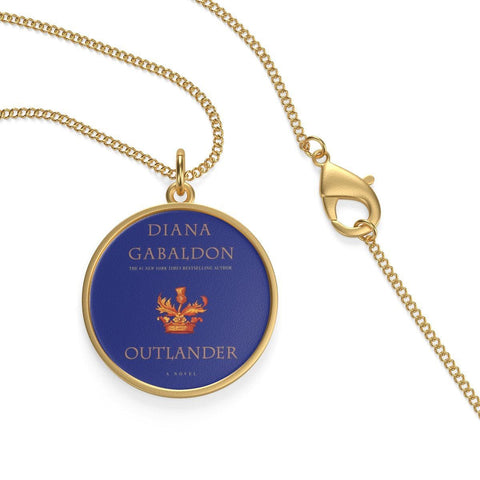 """Outlander""Blue Book Cover Single Loop Necklace - Gifts For Reading Addicts"