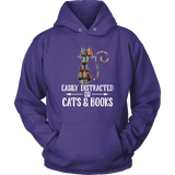 """Cats and books"" Hoodie - Gifts For Reading Addicts"