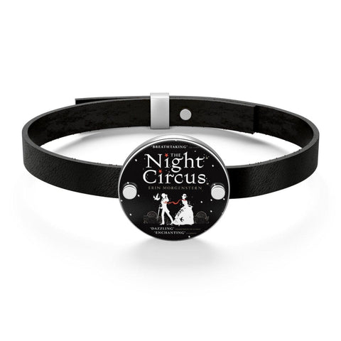"""Night Circus""Book Cover Leather Bracelet - Gifts For Reading Addicts"