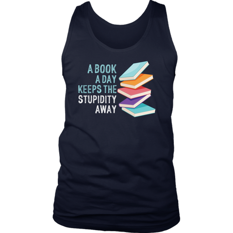 """A Book A Day"" Men's Tank Top - Gifts For Reading Addicts"