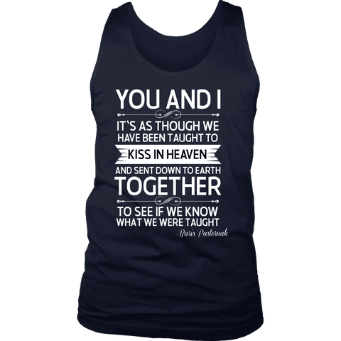 """You and i"" Men's Tank Top - Gifts For Reading Addicts"