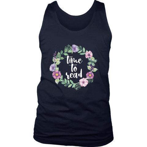 """Time to read"" Men's Tank Top"