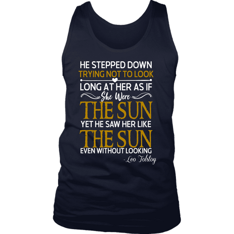 """As if she were the sun"" Men's Tank Top"