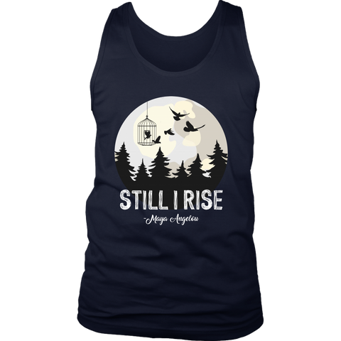 """Still I Rise"" Men's Tank Top - Gifts For Reading Addicts"