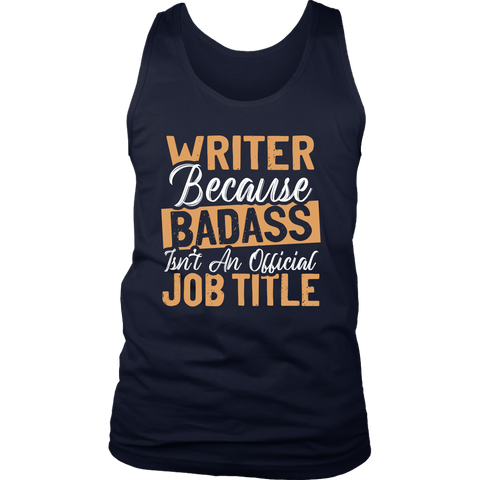 """badass isn't an official job title"" Men's Tank Top - Gifts For Reading Addicts"