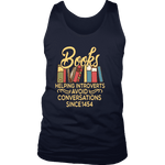 """Avoid Conversations since 1454"" Men's Tank Top - Gifts For Reading Addicts"