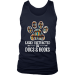"""Dogs and books"" Men's Tank Top"