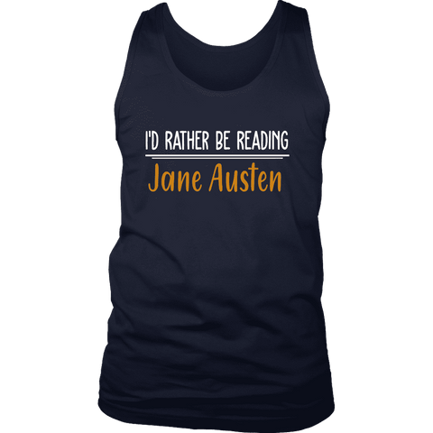 """I'd Rather Be reading JA"" Men's Tank Top"