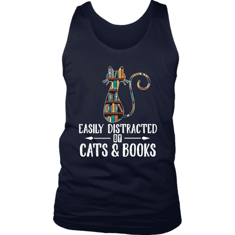 """Cats and books"" Men's Tank Top"